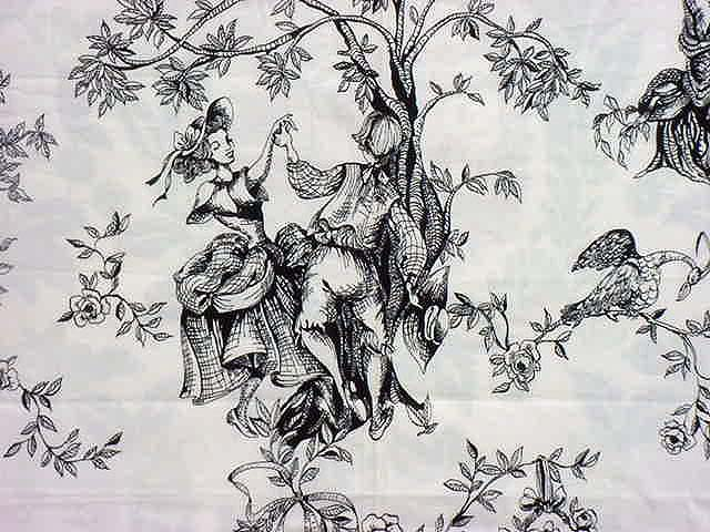 Three versions of the classic toile,